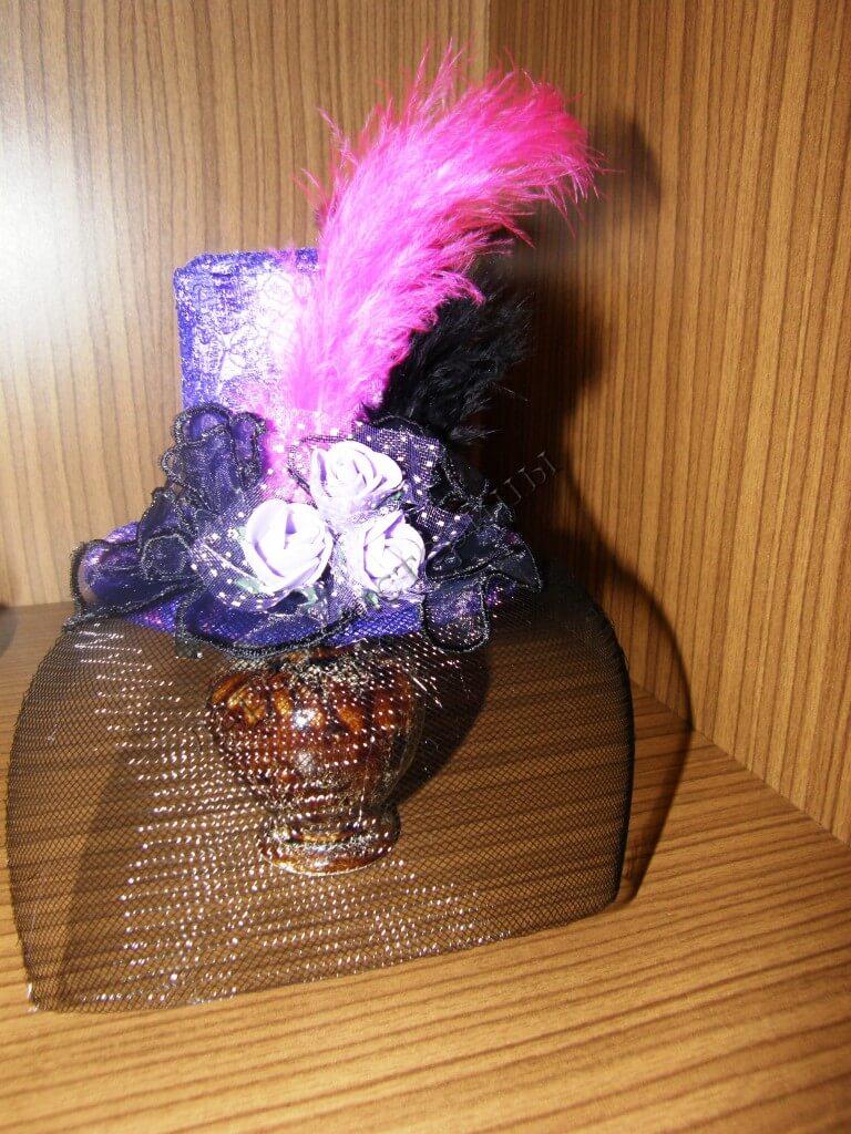 Шляпка с вуалью мастер класс идеи #1