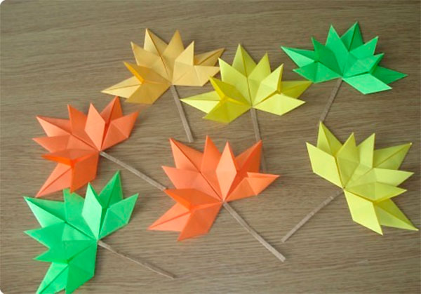 Кленовый лист: пошаговая инструкция в технике Оригами origami klen list