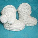 Пинетки Сапожки для новорожденных спицами