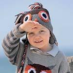 Модная детская шапочка с совой