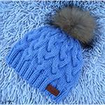 Оригинальная женская шапка узором Коса с тенью