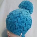 Теплая шапка косами с градиентом