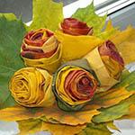 Розы из кленовых листьев: пошаговый мастер класс