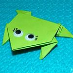 Как сделать прыгающую лягушку из бумаги: схема и описание