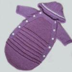 Как связать конверт спицами для новорожденного