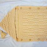 Техника вязания зимнего конверта для новорожденного