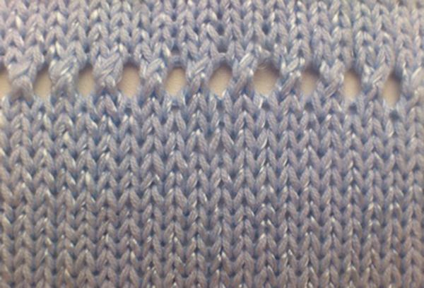 Узор Зубчики спицами lace zubchiki1