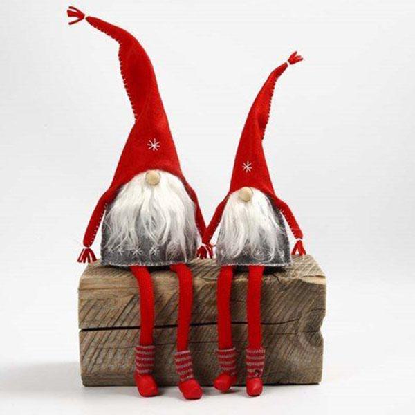 Симпатичные гномики на Новый год своими руками nogodniy gnom 15