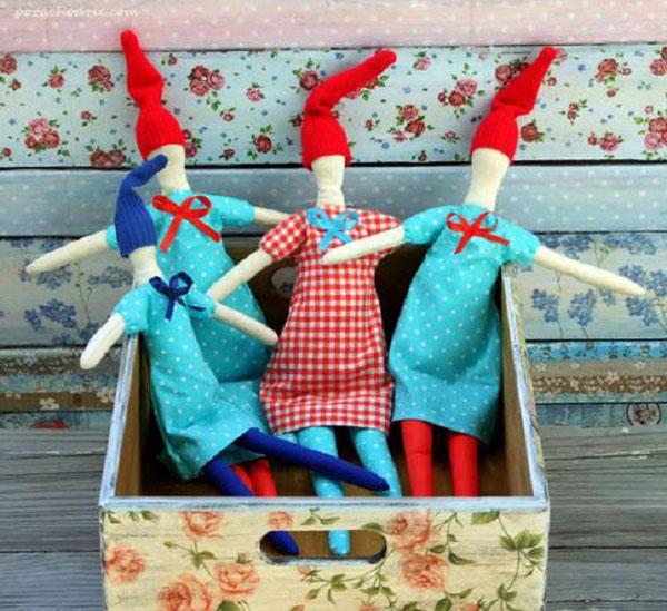 Симпатичные гномики на Новый год своими руками nogodniy gnom 16