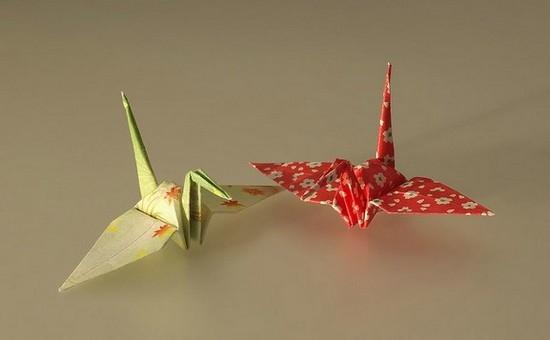 Как сделать журавлика оригами из бумаги своими руками origami zhuravlik iz bumagi 1