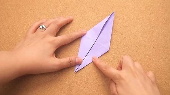 Как сделать журавлика оригами из бумаги своими руками origami zhuravlik iz bumagi 11