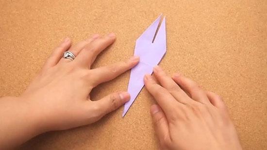 Как сделать журавлика оригами из бумаги своими руками origami zhuravlik iz bumagi 13