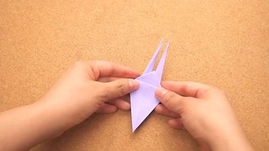 Как сделать журавлика оригами из бумаги своими руками origami zhuravlik iz bumagi 16