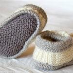 Пинетки-ботиночки спицами с пошаговым описанием вязания и схемами