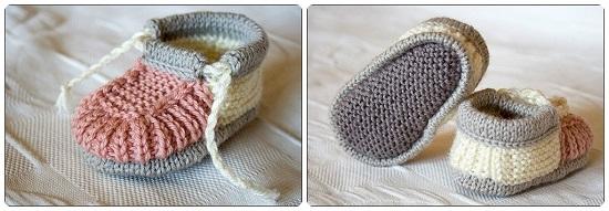 Пинетки ботиночки спицами с пошаговым описанием вязания и схемами pinetki botinochki spicami 1