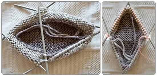 Пинетки ботиночки спицами с пошаговым описанием вязания и схемами pinetki botinochki spicami 5