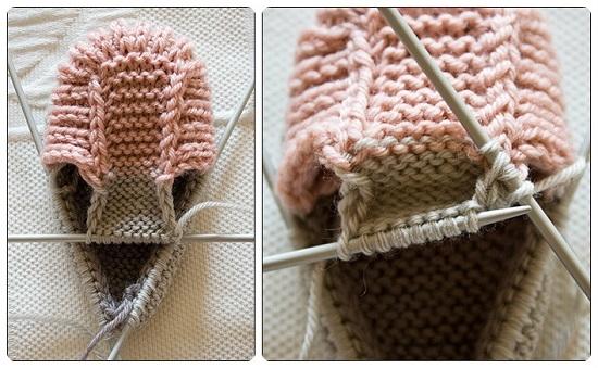 Пинетки ботиночки спицами с пошаговым описанием вязания и схемами pinetki botinochki spicami 7
