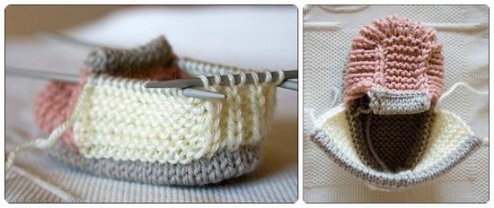 Пинетки ботиночки спицами с пошаговым описанием вязания и схемами pinetki botinochki spicami 8