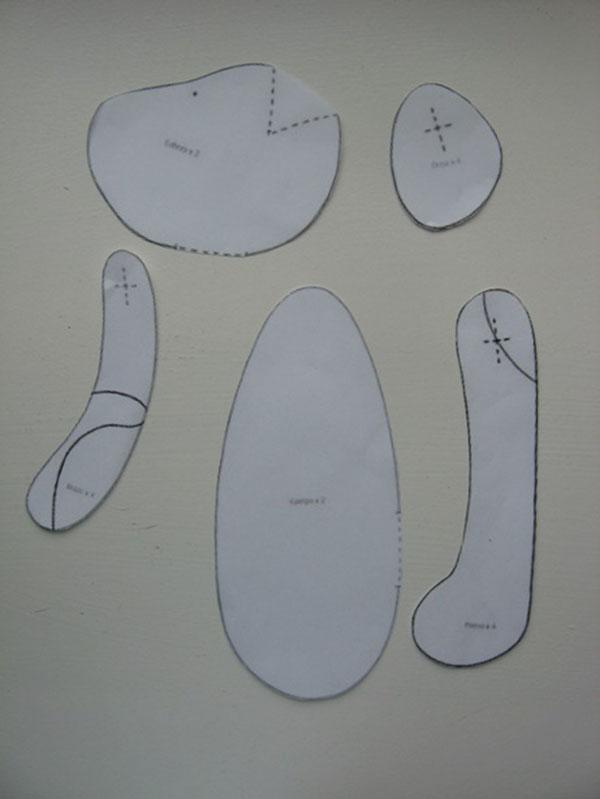 Выкройка и мастер класс по шитью тильды Собаки sobaka tilda 2