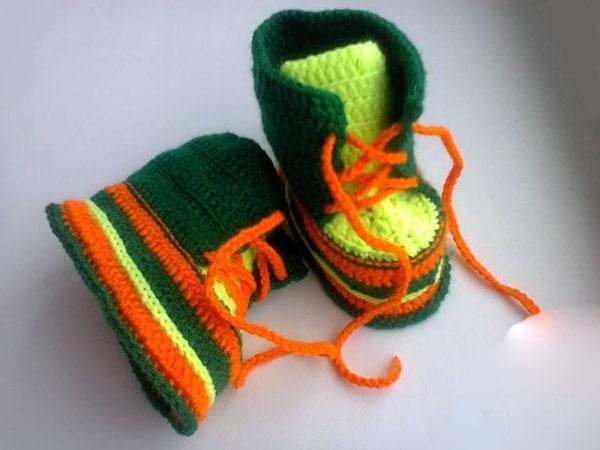 Пинетки Ботиночки крючком для малыша ботиночки крючком 1