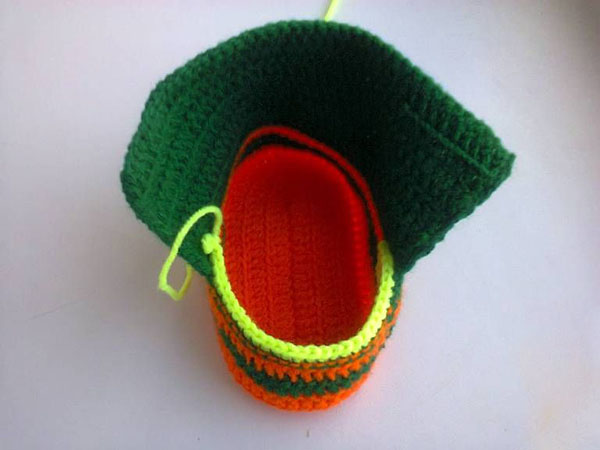 Пинетки Ботиночки крючком для малыша ботиночки крючком 10