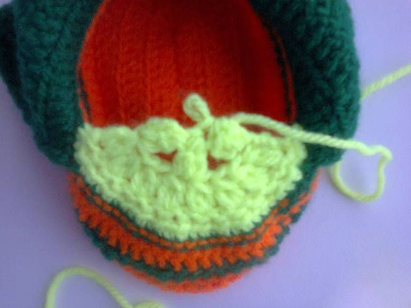 Пинетки Ботиночки крючком для малыша ботиночки крючком 13