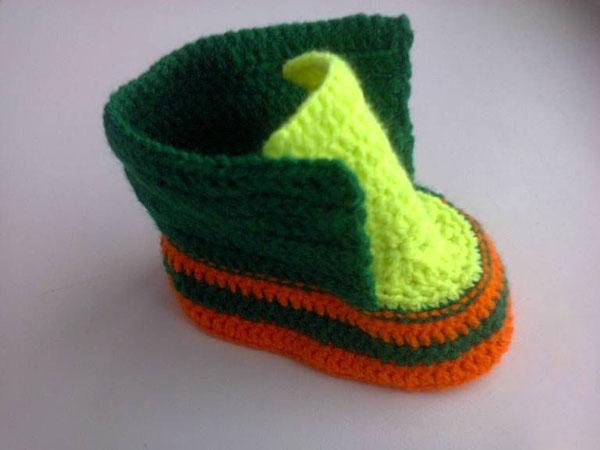 Пинетки Ботиночки крючком для малыша ботиночки крючком 14