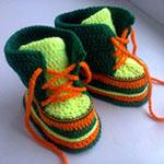 Пинетки Ботиночки крючком для малыша