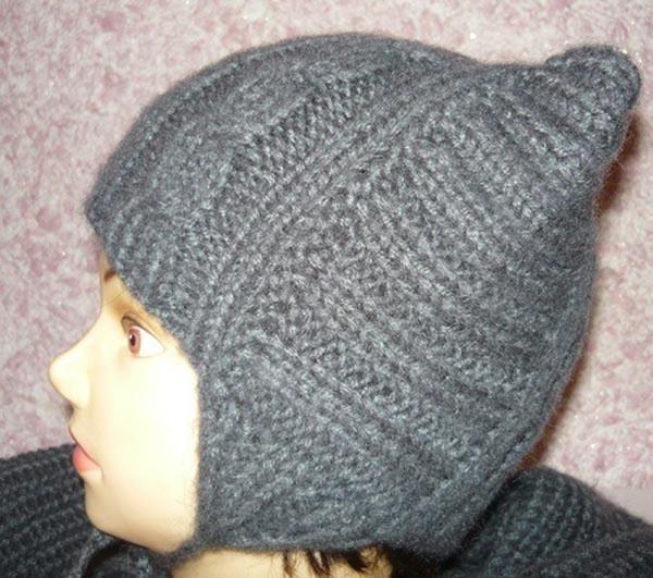 Оригинальная шапка Котошапка для маленьких модниц спицами детская котошапка спицами 3