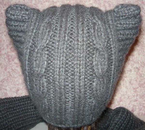 Оригинальная шапка Котошапка для маленьких модниц спицами детская котошапка спицами 6