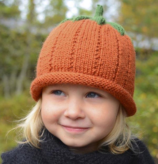 Забавная шапочка Тыковка: теплый аксессуар для вашего ребенка детская шапка Тыковка спицами 1