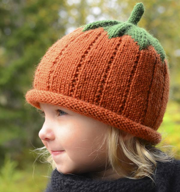 Забавная шапочка Тыковка: теплый аксессуар для вашего ребенка детская шапка Тыковка спицами 2