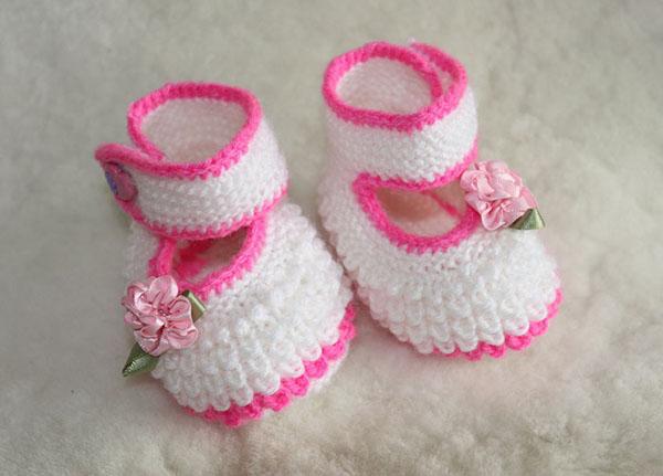 Изящные пинетки Туфельки спицами для девочки пинетки туфельки спицами 1