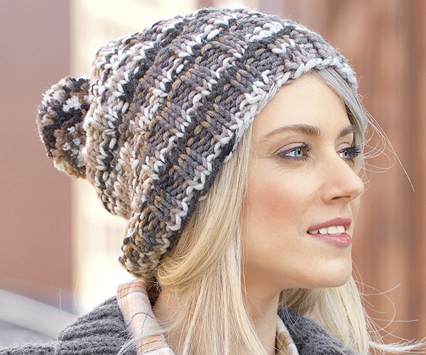 вязание спицами шапки из пряжи травка