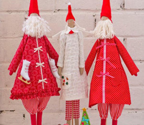 Кукла тильда в новогоднем стиле: секреты изготовления 1 3