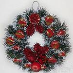 Новогодний венок из мишуры — украшаем дом к Новому году