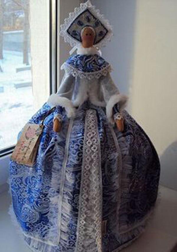 Кукла тильда в новогоднем стиле: секреты изготовления 4 3