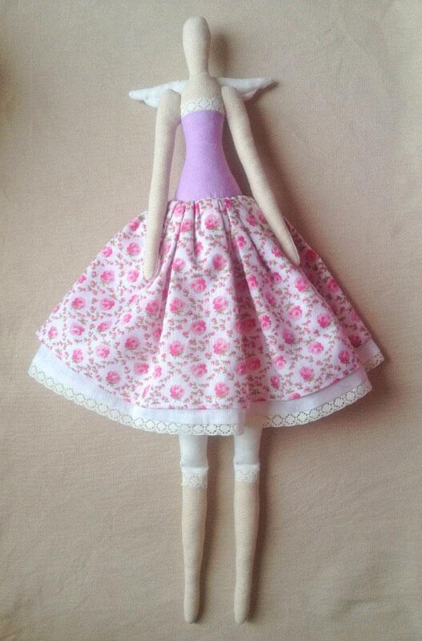 Кукла тильда в новогоднем стиле: секреты изготовления 45