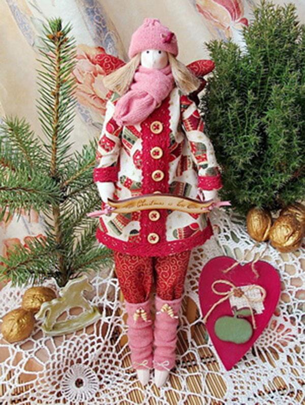 Кукла тильда в новогоднем стиле: секреты изготовления 5 1