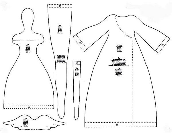 Кукла тильда в новогоднем стиле: секреты изготовления 6 2