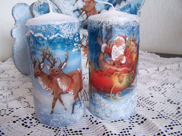 Декор свечей на Новый год: создаем праздничное настроение в доме novogodnie svechi v texnike dekupazh