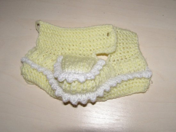 Пинетки Угги для малыша: вязание на двух спицах pinetki uggi spicami 11