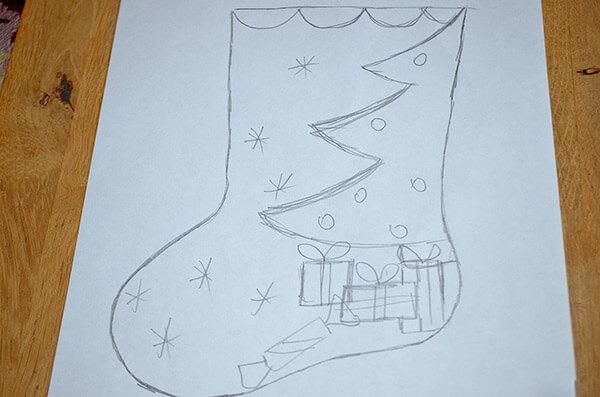 Рождественский сапожок из фетра своими руками sapozhok 1