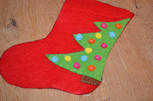 Рождественский сапожок из фетра своими руками sapozhok 10