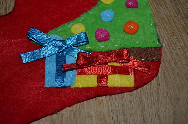 Рождественский сапожок из фетра своими руками sapozhok 11
