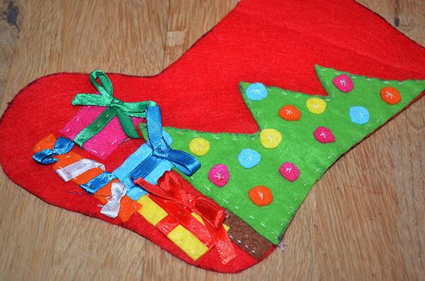 Рождественский сапожок из фетра своими руками sapozhok 12