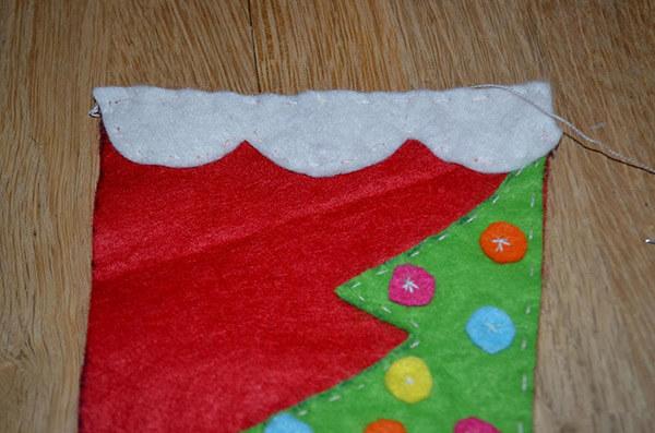 Рождественский сапожок из фетра своими руками sapozhok 13