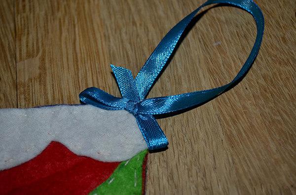 Рождественский сапожок из фетра своими руками sapozhok 16