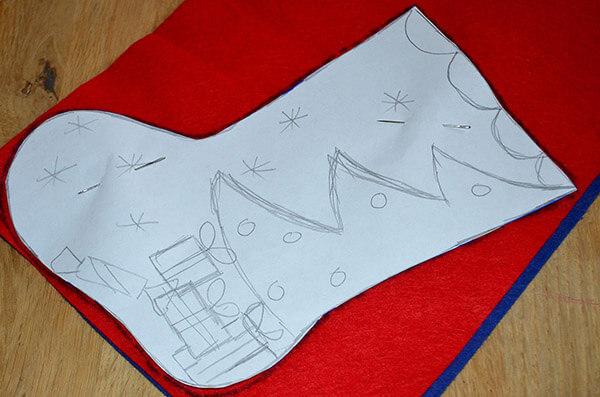 Рождественский сапожок из фетра своими руками sapozhok 2