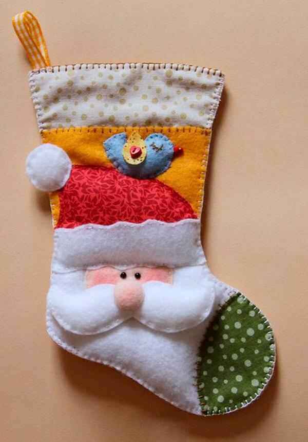 Рождественский сапожок из фетра своими руками sapozhok 21